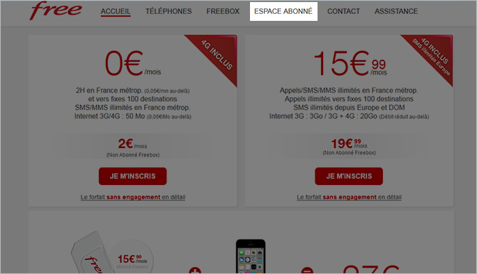 Free Mobile, étape 1